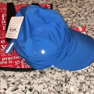 Lululemon race to place run hat and Fabolous blue
